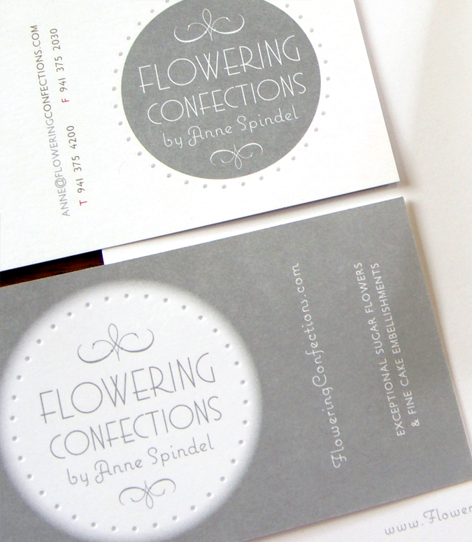 Custom Logo and Business Card Design. Flowering Confections